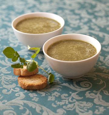 Гороховый суп с кресс-салатом