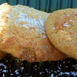 Ананасово-кокосовое печенье с ромом