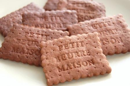 Шоколадное печенье «petit beurre» с корицей
