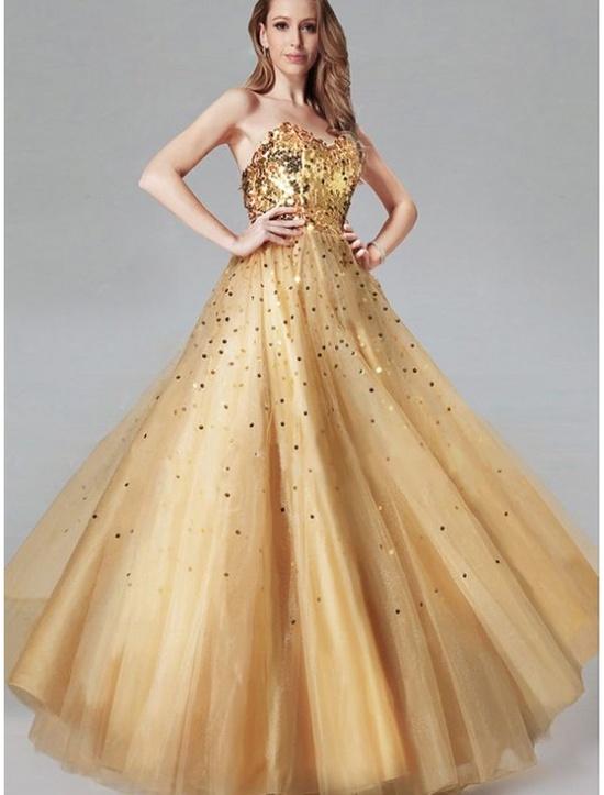 Пышные выпускные платья