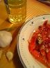 Салат со сладким перцем, приготовленным на гриле