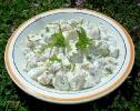 Картофельный салат со свежей мятой