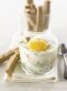 Яйца-кокотт с креветками и сыром конте