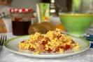 Вареные яйца с сушеными томатами