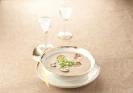 Крем-суп из белых грибов с каштанами