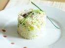 Рис с луком-пореем и шампиньонами