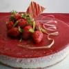 Баварский пирог с клубникой и ревенем