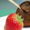 Клубнично-шоколадные леденцы