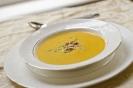 Суп-пюре с морковью и плавленым сыром