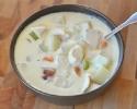 Суп-пюре с рикоттой и овощами