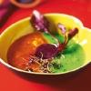 Двухцветный горохово-морковный суп-пюре