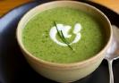 Суп из гороховых стручков с мятой