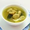 Имбирный суп с лимоном и бобами