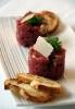Тартар из говядины с пармезаном