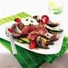 Обжаренный стейк со средиземноморскими овощами