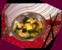 Королевский мисо-суп с морепродуктами