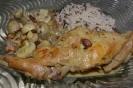 Кролик-соте в сливочном соусе с горчицей и грибами