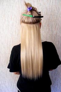 Как цеплять трессы на волос