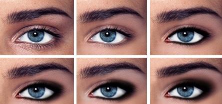 Как сделать глаза еще голубее в домашних  395