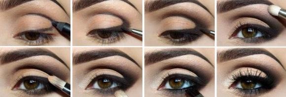 Макияж для глаз брюнеткам