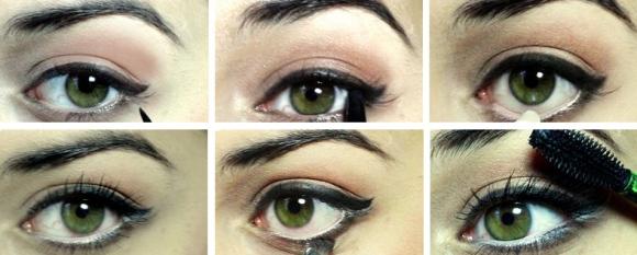 Как сделать макияж что глаза казались большими 508