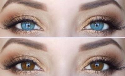 Изменение цвета глаз с карего на голубой