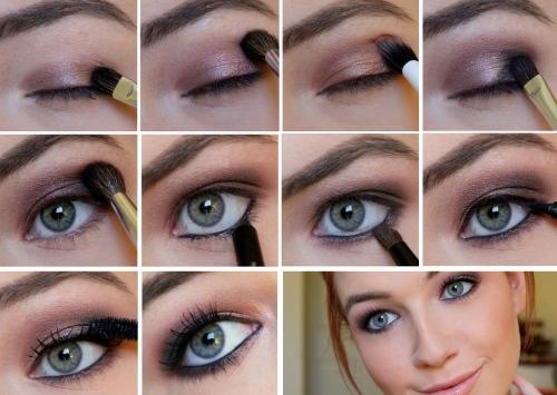 Макияж для зеленых глаз и темных волос