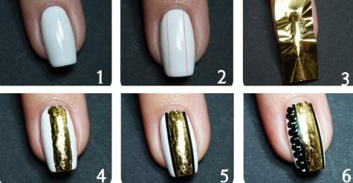 Как на ногти нанести фольгу