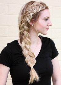боковая французская коса