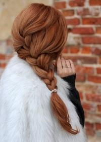 диагональная французская коса