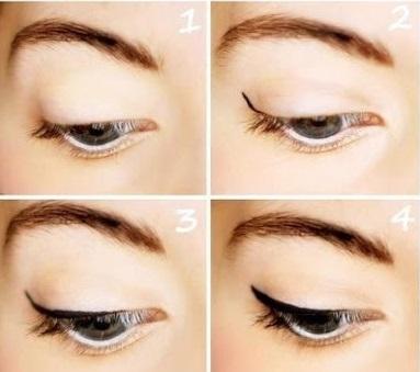 стрелки на глазах техника нанесения