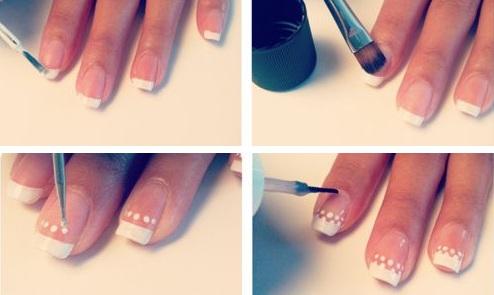 Акриловый дизайн на натуральных ногтях