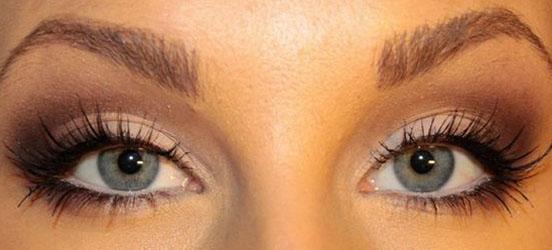 как накрасить глаза чтобы они казались больше