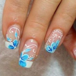 фото рисунки на нарощенных ногтях