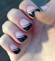 Маникюр для длинных ногтей