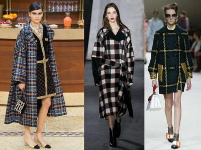 клетчатые пальто осень зима 2015 2016