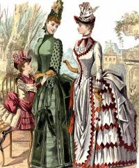 Женские платья викторианской эпохи