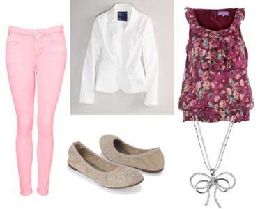 pantalones vaqueros de color, moda en calle, moda y estilo, ropa de mujer