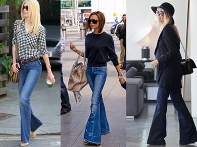 джинсы клеш