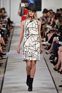 стиль модерн одежда Oscar de la Renta