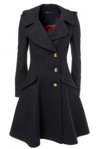 что носить с черным пальто