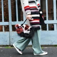 меховая сумка и пальто из разноцветного каракуля