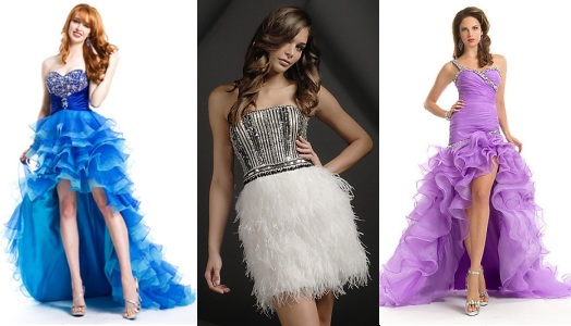 Пышные платья на выпускной 2013 (фото
