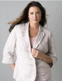 jacket slim Одяг для повних жінок   секрети краси і елегантності