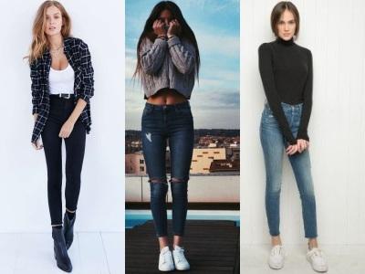 фасон джинсов с завышенной талией