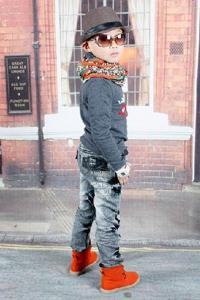 Модная джинсовая одежда для детей