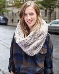 вязаные шарфы модная деталь осеннего гардероба