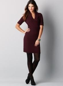 трикотажное платье для офиса