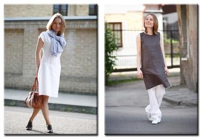 Самая привычная льняная одежда различных оттенков песочного цвета выглядит неплохо, но она так распространена, что уже выглядит немного скучно