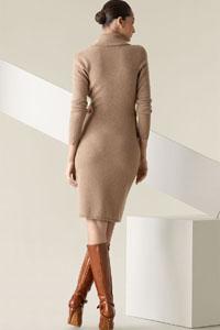как носить платье-свитер